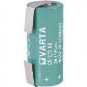 2/3 AA lítium elem, forrasztható, 3V 1350 mAh, forrfüles, 15 x 33 mm, Varta CR 2/3 AA LF