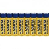Mikroelem AAA, alkáli mangán, 1,5V, 8 db, Varta Longlife LR03, AAA, LR3, AM4M8A, AM4, S