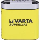 4,5V-os laposelem, cink-szén, 2700 mAh, Varta Superlife 3R12, 3LR12, 1203, V4912, MN1203, 312G, LR12, 4,5 V Block
