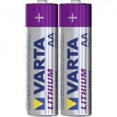 Ceruzaelem készlet, AA, lítium, 1,5V 2900 mAh, 2 db, Varta Professional LR06, AA, LR6, AAB4E, AM3, 815, E91, LR6N