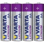 Ceruzaelem készlet, AA, lítium, 1,5V 2900 mAh, 4 db, Varta Professional LR06, AA, LR6, AAB4E, AM3, 815, E91, LR6N