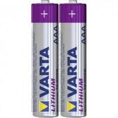 Mikroelem AAA, lítium, 1,5V 1100 mAh, 2 db, Varta Professional LR03, AAA, LR3, AM4M8A, AM4, S