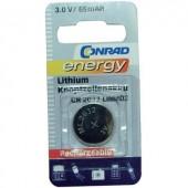CR2032 ML2032 gombakku lítium, 3 V 65 mAh, Conrad Energy CR2032
