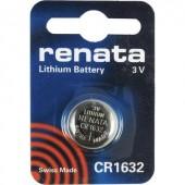 CR1632 lítium gombelem, 3 V, 137 mA, Renata BR1632, DL1632, ECR1632, KCR1632, KL1632, KECR1632, LM1632