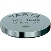 CR1225 lítium gombelem, 3 V, 48 mA, Varta BR1225, DL1225, ECR1225, KCR1225, KL1225, KECR1225, LM1225