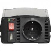 Szivargyújtós inverter USB csatlakozóval, 300W/12 V/DC VOLTCRAFT MSW 300-12-G