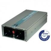 Színuszos jellegű inverter, 1200 W/2400 W24 V/DC (22 - 28 V) - 230 V/AC · 5 V/DC USB, e-ast HPL1200-24