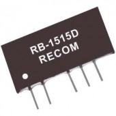 1 W-os DC/DC átalakító, RB sorozat, bemenet: 5 V/DC, kimenet: ±12 V/DC ±42 mA 1 W, Recom International RB-0512D
