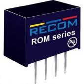 1 W-os DC/DC átalakító, ROM sorozat, bemenet: 12 V/DC, kimenet: 12 V/DC 83 mA 1 W, Recom International ROM-1212S