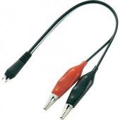 Adapterkábel 2 db csipesszel hálózati adapter dugóra