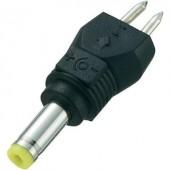 Kisfeszültségű adapter csatlakozó külső Ø 4 mm, belső Ø 1,7 mm, egyenes, Voltcraft