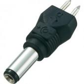 Kisfeszültségű adapter csatlakozó, külső Ø 5 mm, belső Ø 2,1 mm, egyenes, Voltcraft
