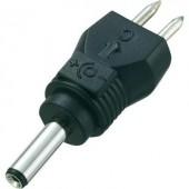Kisfeszültségű adapter dugó, külső Ø 3 mm, belső Ø 1 mm, egyenes, Voltcraft