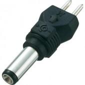 Kisfeszültségű adapter dugó külső Ø 5 mm, belső Ø 1,5 mm, egyenes, Voltcraft