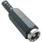 Kisfeszültségű csatlakozó Alj, egyenes 5.5 mm 2.1 mm BKL Electronic 072208 1 db