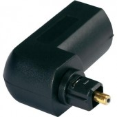 Digitális optikai audio könyök adapter, 1x Toslink dugó - 1x Toslink aljzat, fekete, Hicon