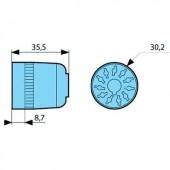 11 pólusú csatlakozó aljzat, forrasztható, Crouzet 25622076