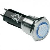 Akusztikus jeladó Hangerő: 80 dB 12 V/DC kék, 19 mm, szakaszos, 718803
