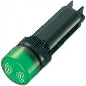 Akusztikus jeladó 80 dB 24 V/DC zöld, 16 mm, tartós hangjelzés