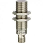 Induktív közelítés érzékelő (fém) M18, kapcsolási távolság: 10 mm, Contrinex DW-AS-703-M18-002
