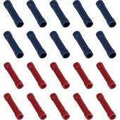 Kerek csatlakozó összekötő készlet, 0,25-2,5 mm², 20 db