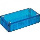 Átlátszó kék polikarbonát ház 150x80x50 mm