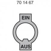 EIN/AUS felirat nikkelezett