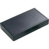 Kézi műszerdoboz 125 x 70 x 22 mm, ABS, fekete, Hammond Electronics 001106
