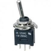 Karos billenőkapcsoló 250 V/AC 3 A 1 x BE/BE, reteszelő, SCI MTE102A1