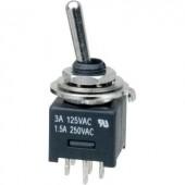 Karos billenőkapcsoló 250 V/AC 3 A 2 x BE/BE, reteszelő, SCI MTE202A1