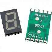 7 szegmenses LED kijelző, számmagasság: 14,22 mm, 20 mcd, sárga, Avago Technologies HDSM-531F