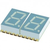 7 szegmenses kijelző, kék 10.16 mm 3.05 V Számjegyek: 2 Kingbright KCDC04-136