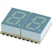 7 szegmenses kijelző, kék 7.62 mm 3.05 V Számjegyek: 2 Kingbright KCDC03-136