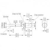 Fototranzisztor 5mm Osram Components SFH 300 FA-3/4