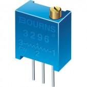 Álló trimmer potméter, felül állítható, 100 kΩ 0,5 W ± 10 % THT 3296, Bourns 3296W-1-104LF
