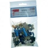 Elektrolit kondenzátor, axiális, fekvő készlet, 50 db fekvő Kemo S005