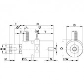 Netter Vibration Dugattyús vibrátor, NTK, frekvencia (6 bar) 2544 Hz Centrifugális erő (6bar) 104 N 0,29 cm/kg
