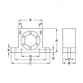 Netter Vibration NCT 15 Turbina vibrátor, Centrifugális erő (6bar) 4277 N, Névl. frekvencia (6 bar) 23400 Hz