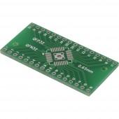 Kísérletező panel Epoxi (H x Sz) 40.64 mm x 20.25 mm 35 µm Raszterméret 2.54 mm TRU COMPONENTS QFN-QFP32 1 db