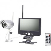 2,4 GHz-es vezeték nélküli DVR monitor készlet kamerával, 4 csatornás, Sygonix 37370A1