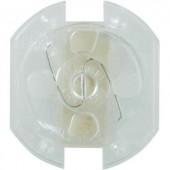 Gyermekvédő konnektor zár, vakdugó, 5 db, átlátszó, Heidemann 43181