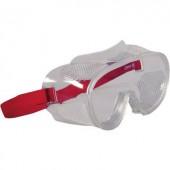 Munkavédelmi védőszemüveg, gumipántos, polikarbonát EN 166 2661
