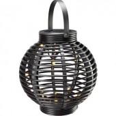 Napelemes kerti lámpa LED Melegfehér Polarlite Rattan 250 Fekete