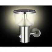 Napelemes kültéri fali lámpa mozgásjelzővel 3 W Melegfehér Polarlite WLSS02PIR