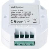 Vezeték nélküli süllyesztett vevő  1 csatornás  2000 W  max. 70 m  RSLR3