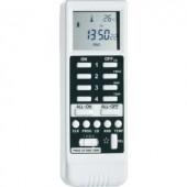 Vezeték nélküli kézi távirányító LCD-vel, 16 csatornás, max. 50 m, fehér, RSLT