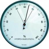 Hajszálas higrométer, páratartalom mérő, ezüst, ø 103 x 35 mm