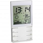 Digitális időjárásjelző állomás, komfort jelzés, ezüst, TFA 35.1102.02