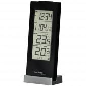 Vezeték nélküli külső-belső hőmérő, fekete, Techno Line