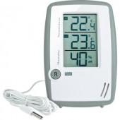 Levegő hőmérséklet és páratartalom mérő  thermmo/hygrométer külső érzékelővel TFA